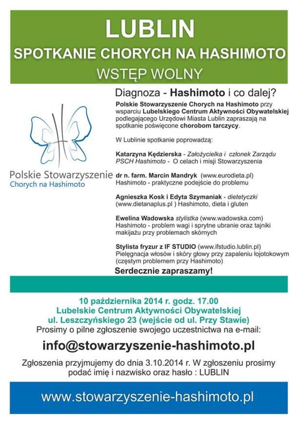 Lublin- spotkanie chorych na Hashimoto